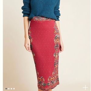 ANTHRO Farm Rio Knit Pencil Maxi Skirt NWT!